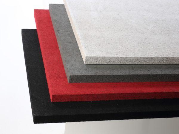 konto-akustiikkalevy-musta-punainen-harmaa-valkoinen